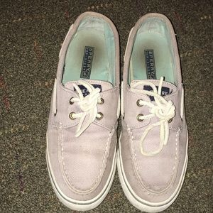 Gray Herringbone Sperry Top-Siders